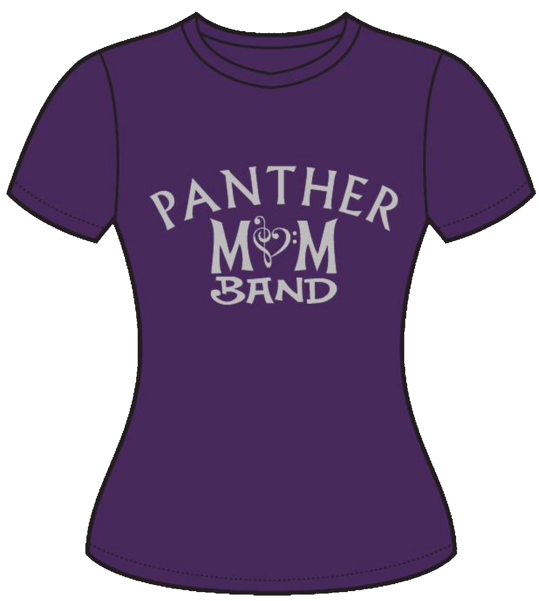 Purple panther png. Band mom fitted