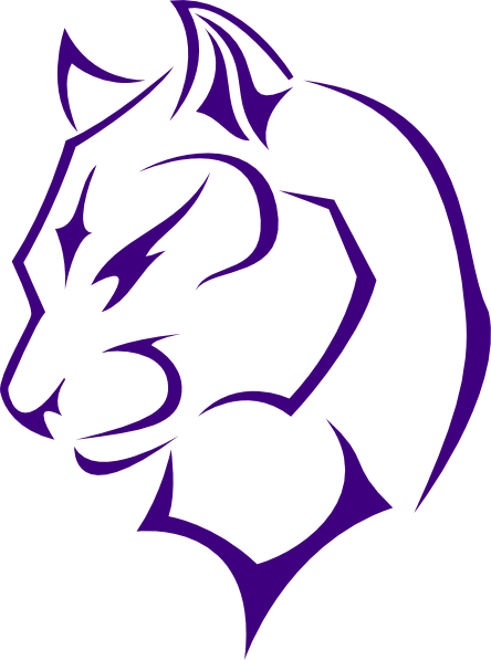 Purple panther png. Turned panthers head clip