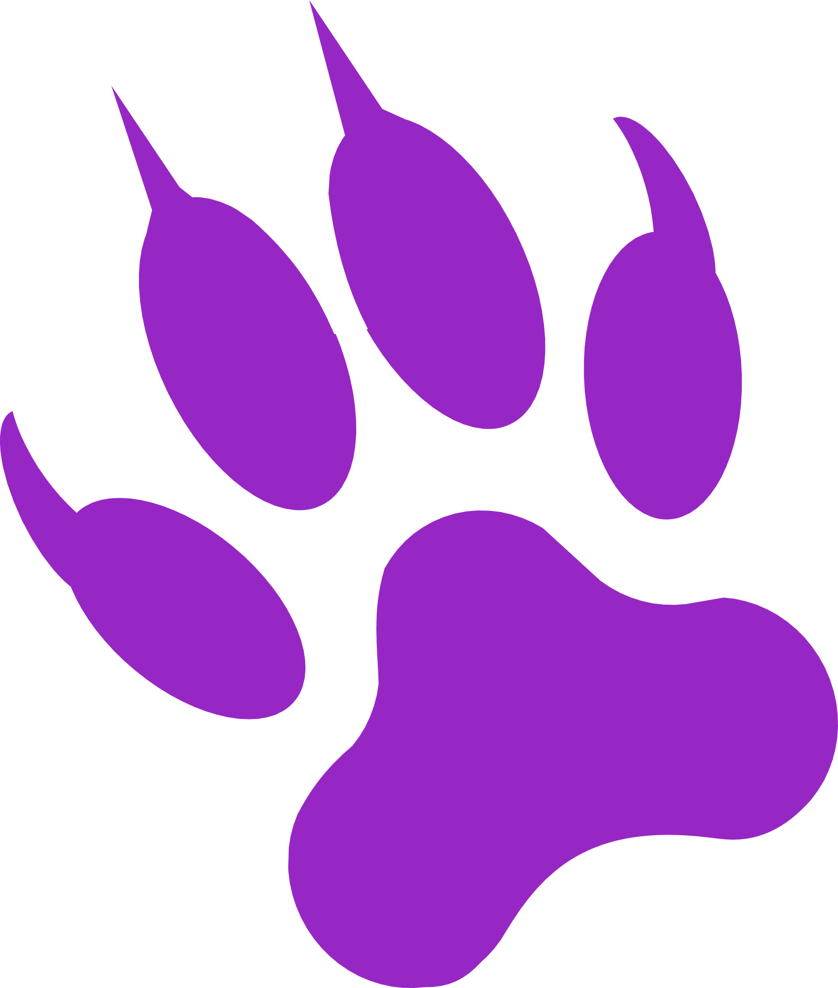 Purple panther png. Gray wolf black cougar