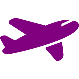 Violet plane. Free clipart airplane download