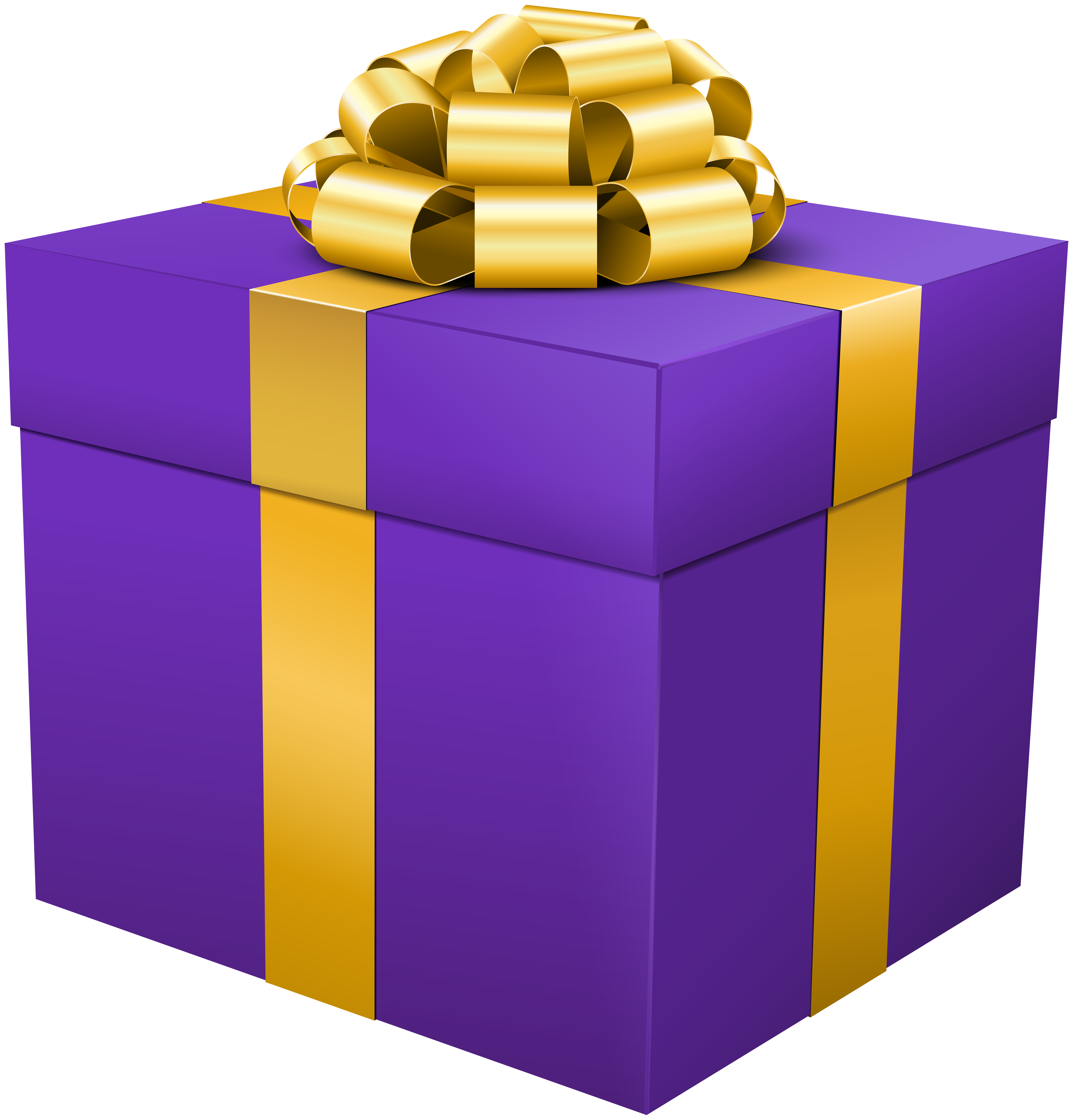 Clip box. Purple gift png art