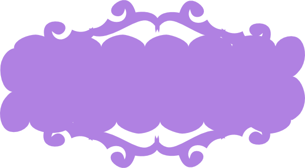 Purple ribbon banner png. Clip art at clker