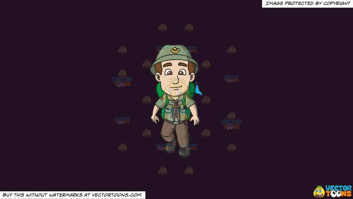 Purple rover. Clipart a scout ready