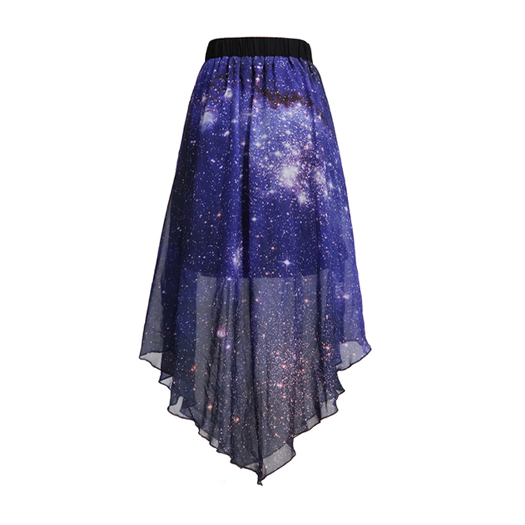 Transparent skirts purple