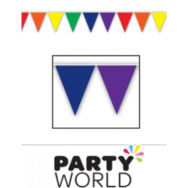 Purple triangle banner png. Rainbow pennant m
