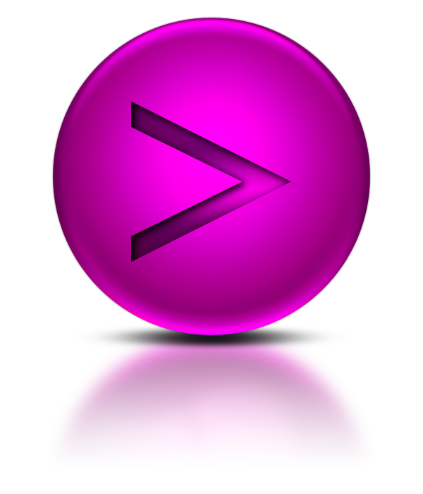 Purple web buttons png. Greater than sign icon