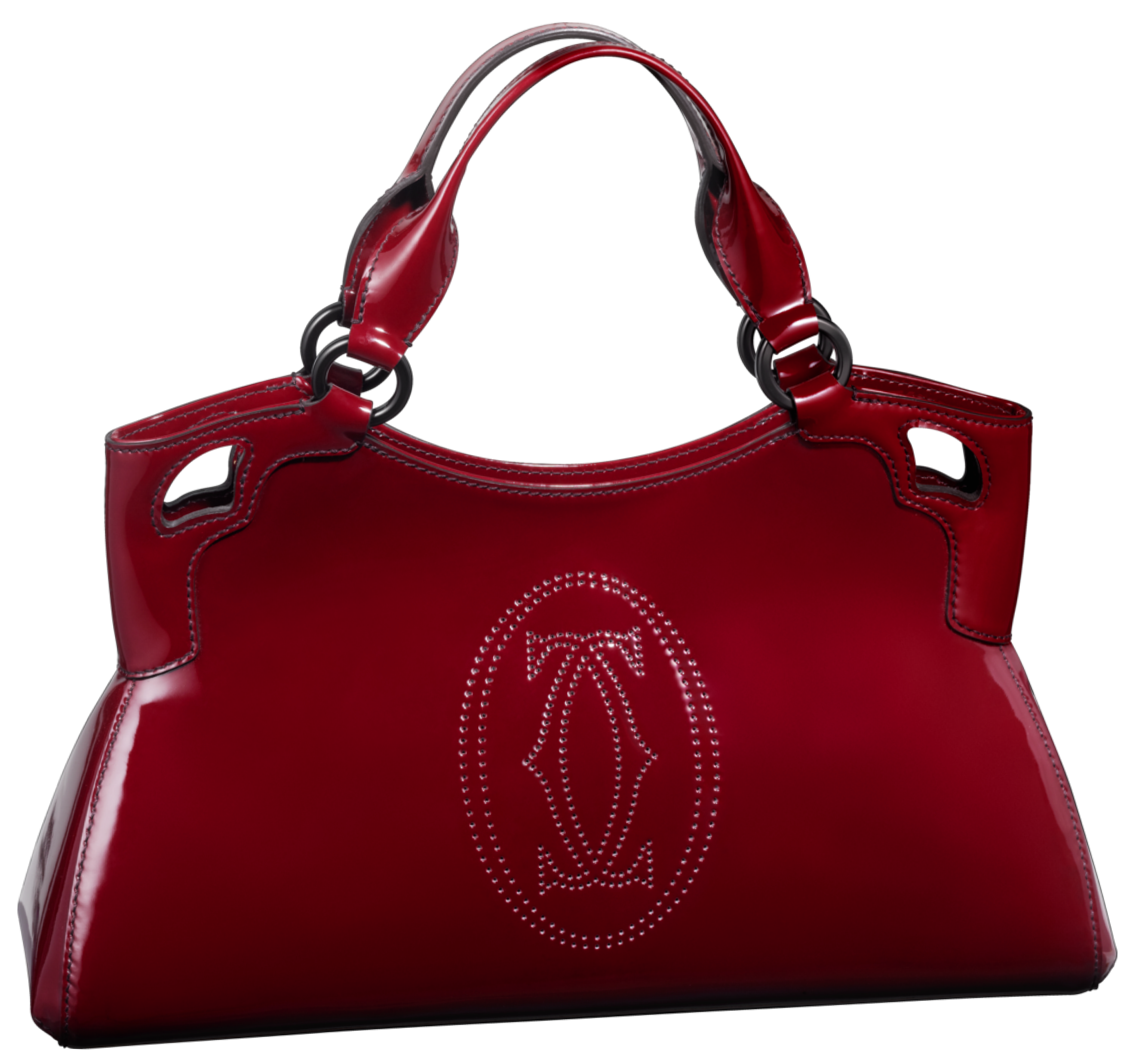 Red purse png. Cartier handbag clip art