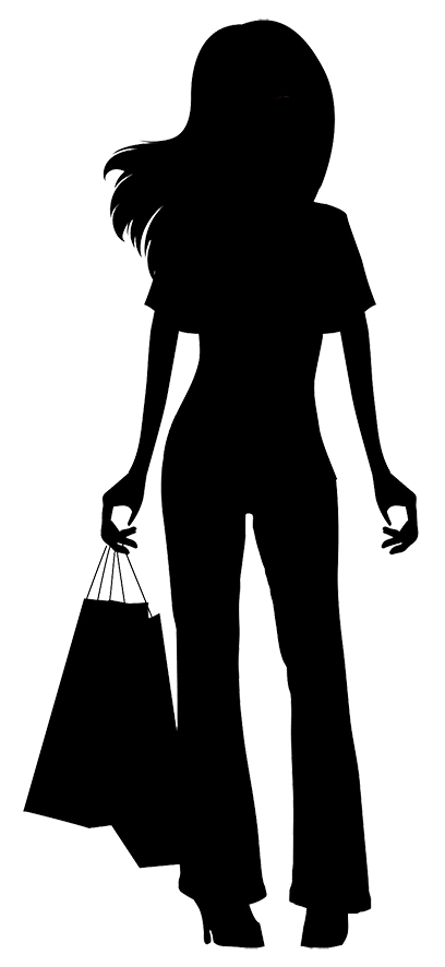Shopping clipart boutique shopping. Purse silhouette at getdrawings