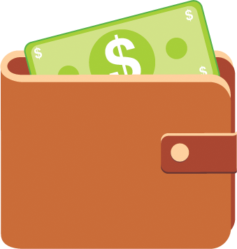 Wallet vector. Free icon png download