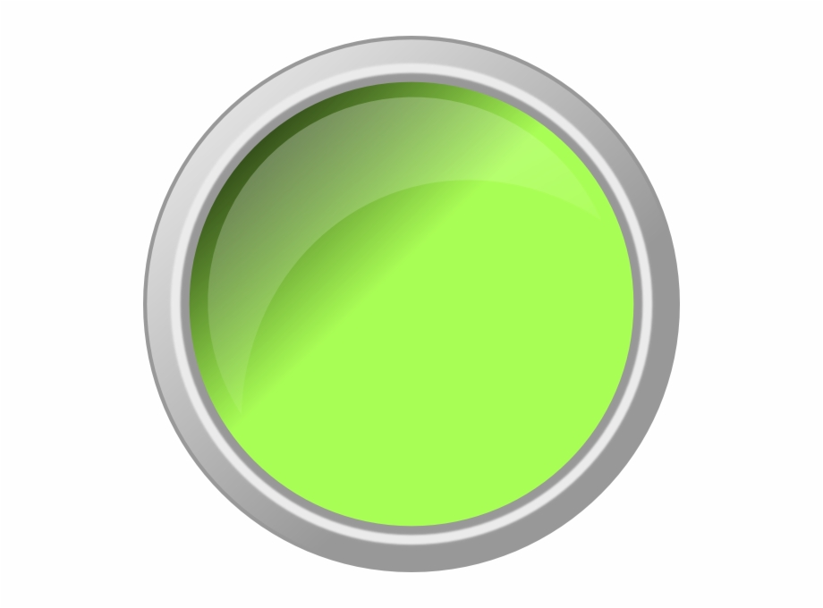 Push button. Glossy green svg clip