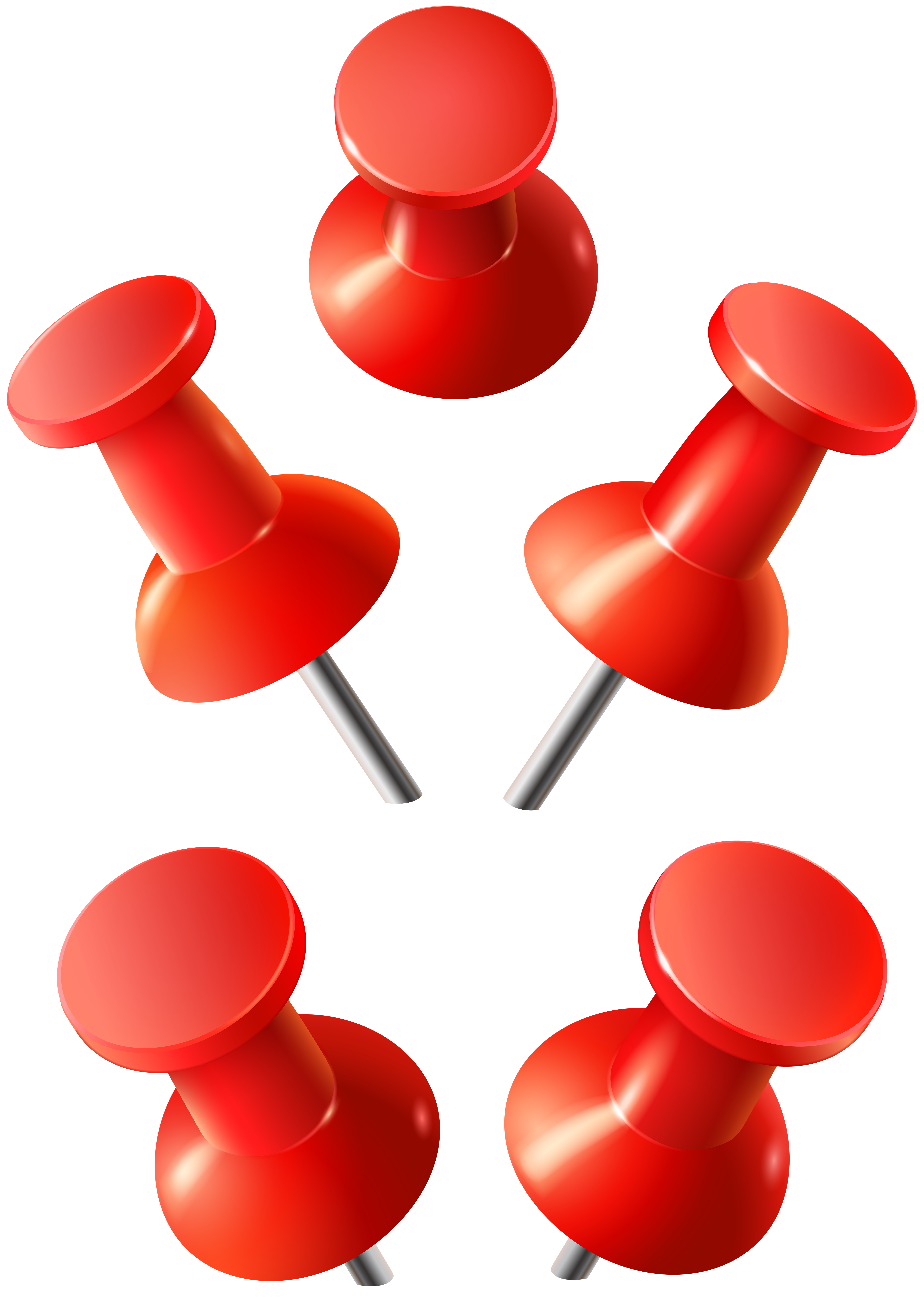 Push clip. Red pins png art