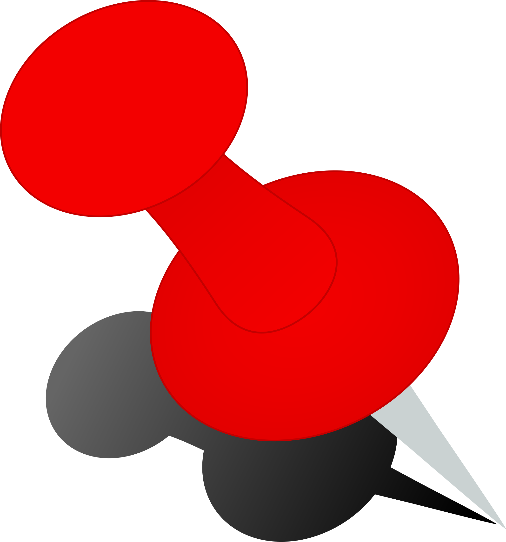 Pushpin vector red pin. Push icons png free