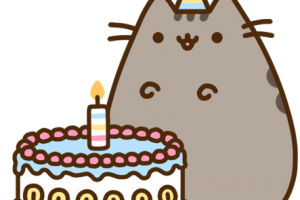 Pusheen birthday png. Image related wallpapers