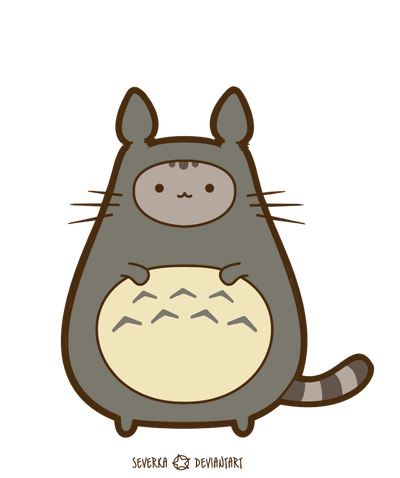 Pusheen birthday png. Commission in disguise by