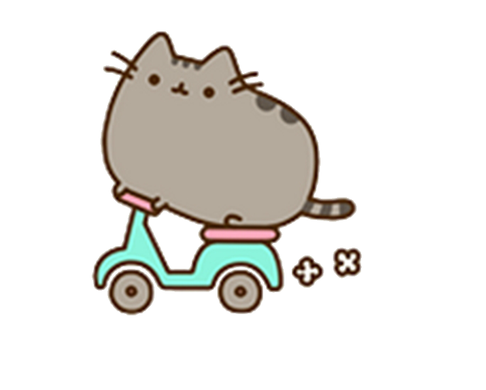 Pusheen birthday png. I am the cat