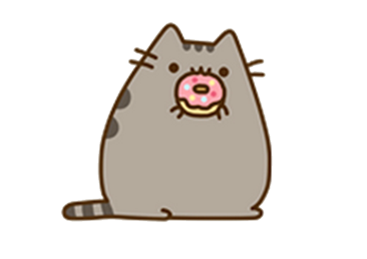 Pusheen pizza png. Yummydonuts reminds me of