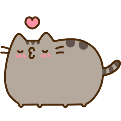 Pusheen cat png. Transparent stickpng kiss