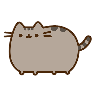 Pusheen cat png. Transparent stickpng