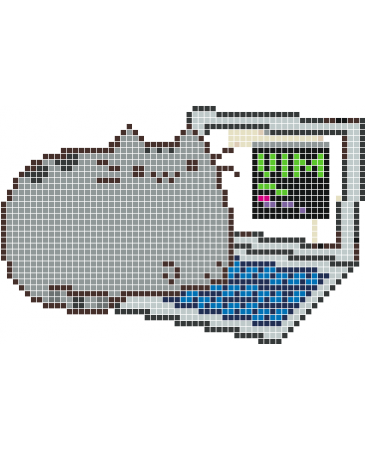 Pusheen computer png. Wall decals stickaz