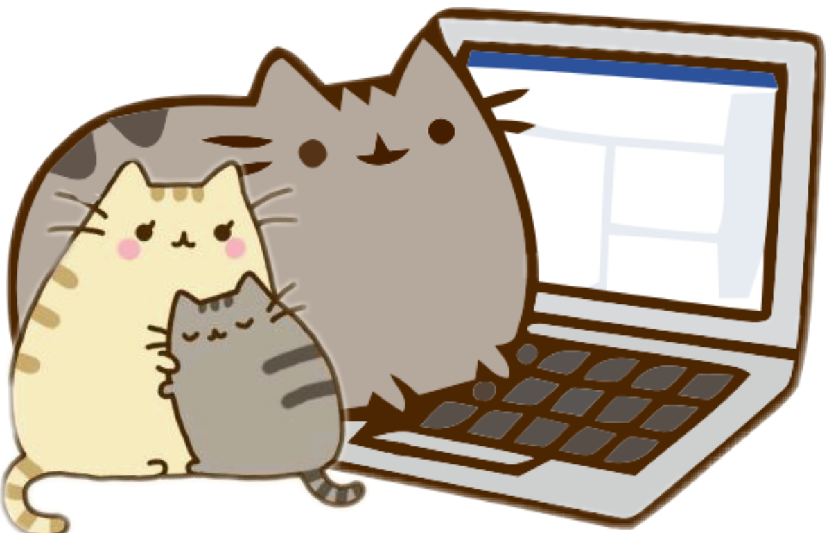 Pusheen computer png. Love family ftestickers report