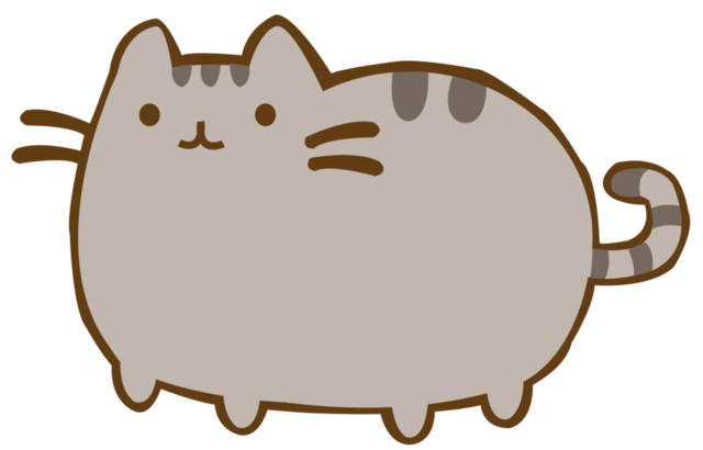 Pusheen vector computer. Archivo by orangefuss d