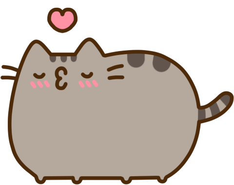 Pusheen heart png. Kiss transparent stickpng