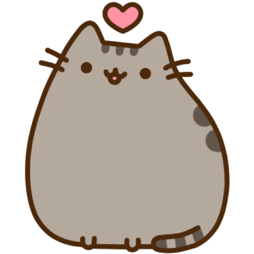 Pusheen heart png. Telegram