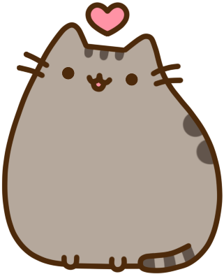 Pusheen heart png. Cakeday and birthday givs