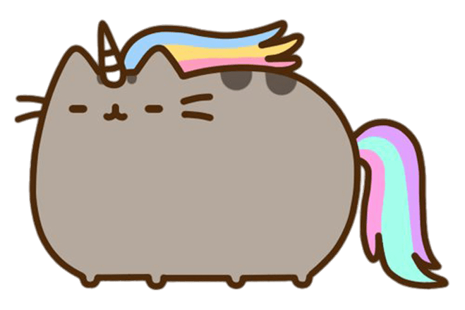 Pusheen png. Unicorn transparent stickpng