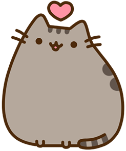 Pusheen heart png. Angry annoyed back blushing