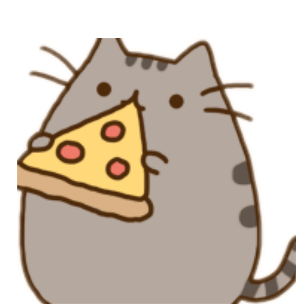 Pusheen pizza png. Freetoedit