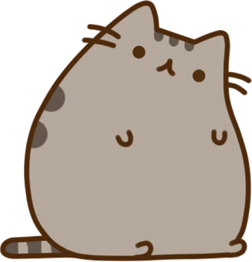 Pusheen stickers png. The cat sticker package