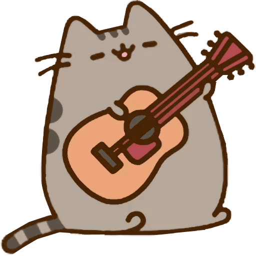 Pusheen stickers png. Telegram sticker from collection
