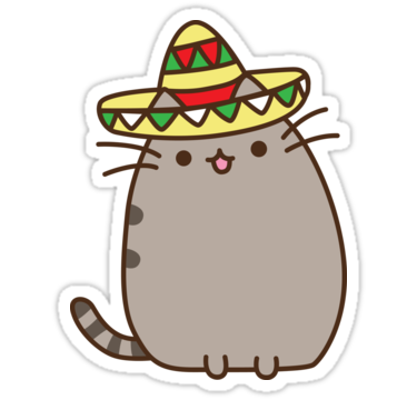 Pusheen stickers png. Taco by reun redbubble