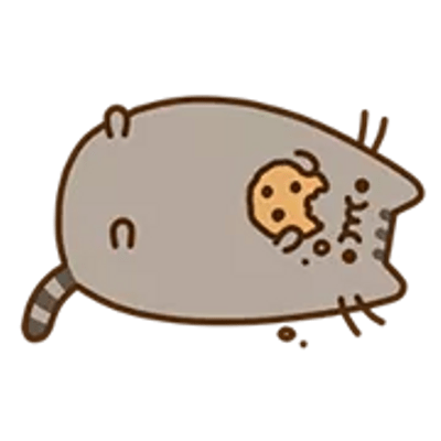 Pusheen transparent png. Images stickpng eating cookie