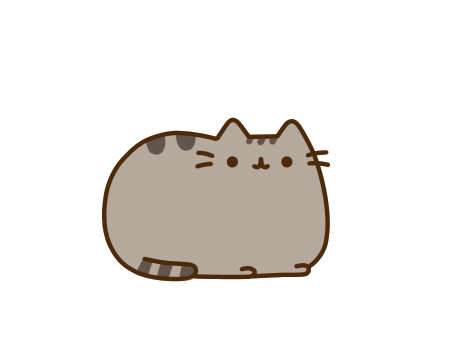 Pusheen vector icon. A brief history of
