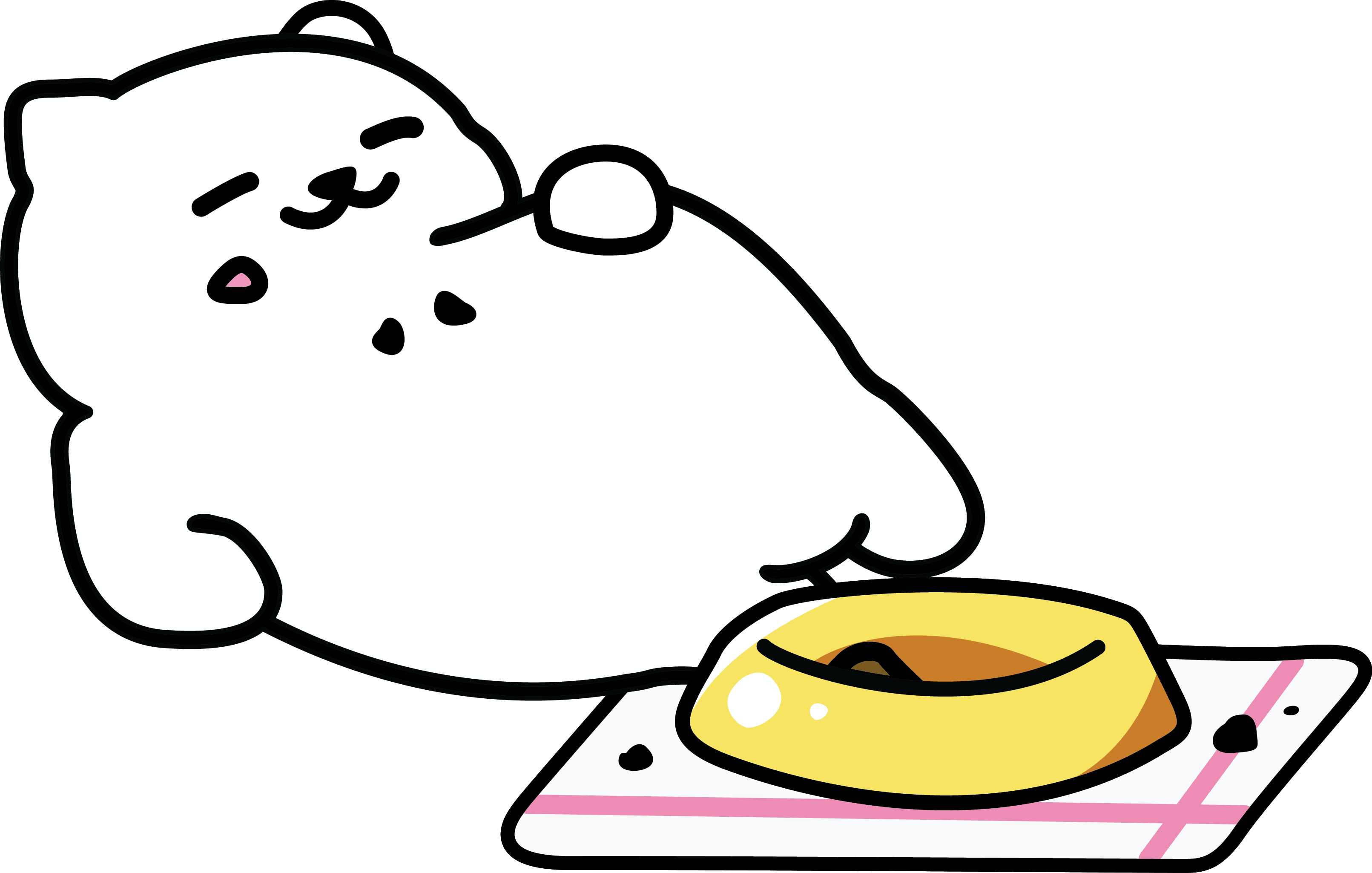 Pusheen vector outline. A brief history of