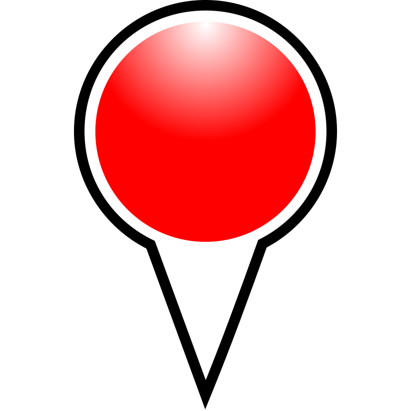 Pushpin vector push pin. Free red download clip