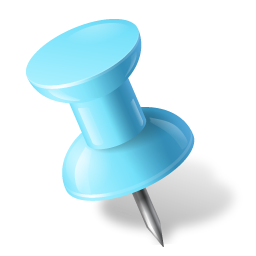 Pushpin vector blue. Push pin icon free