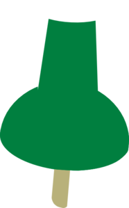 Pushpin vector green. Push pin clip art