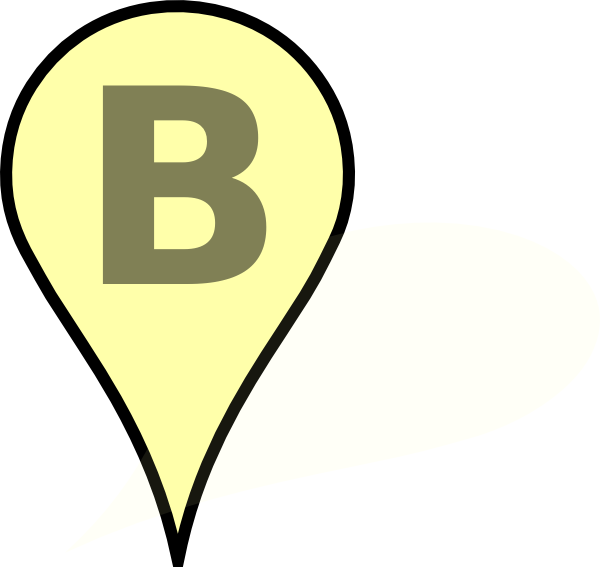 Pushpin vector push pin. Google yellow clip art