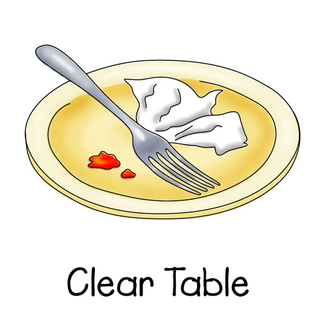 Vacuuming clipart clear table. Best chore chart