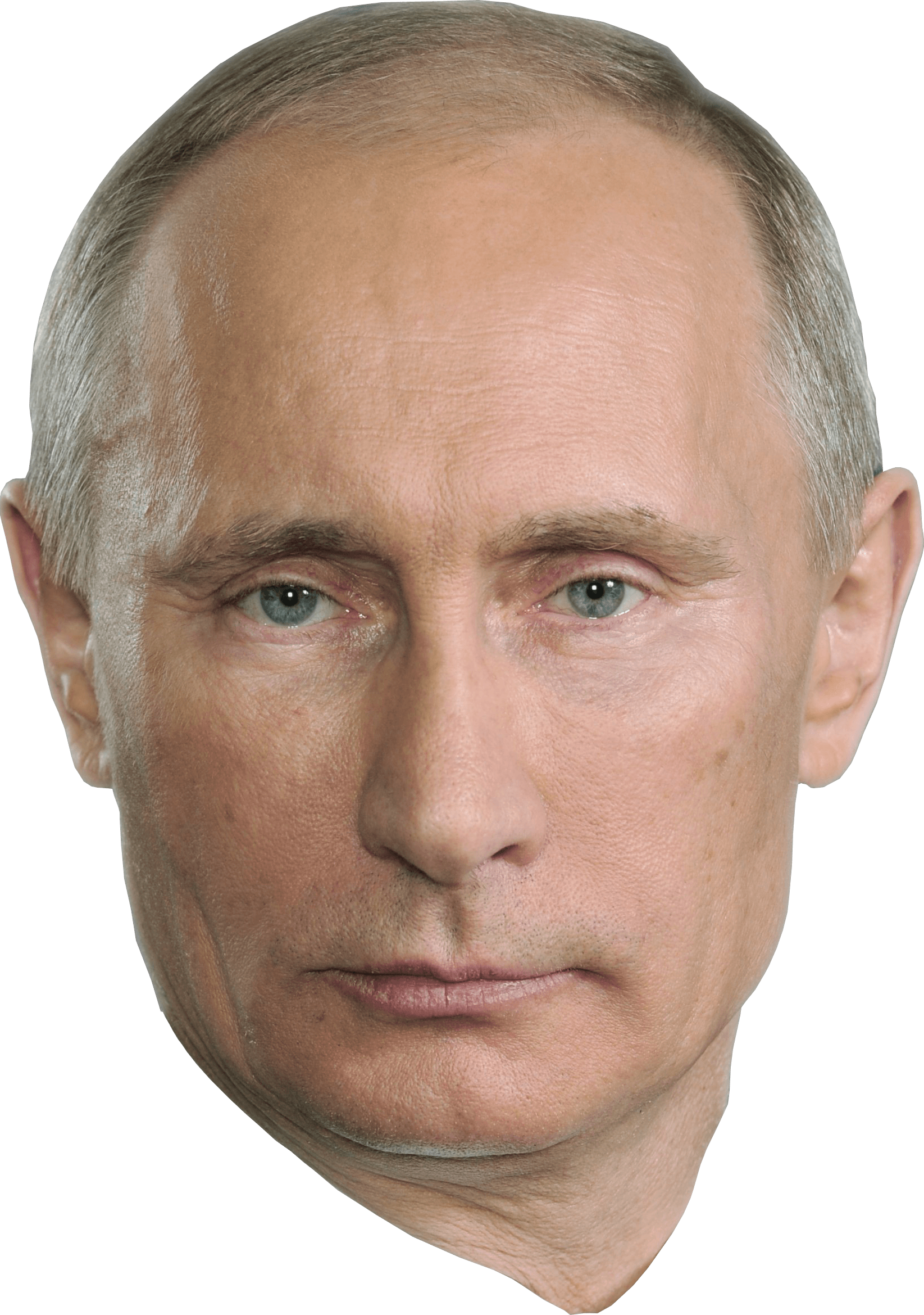 Putin head png. Face transparent stickpng