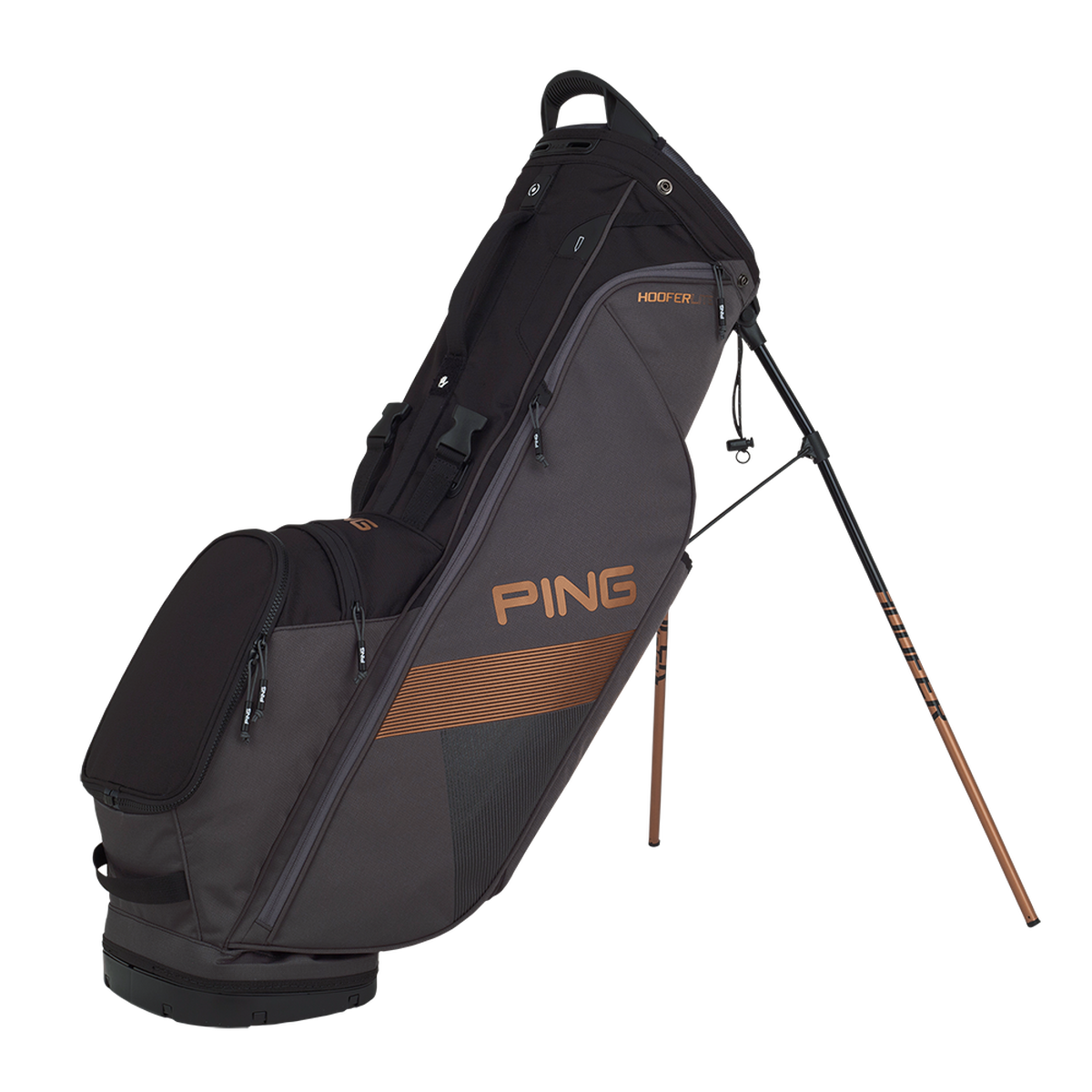 Putter clip golf bag. Ping hoofer lite stand