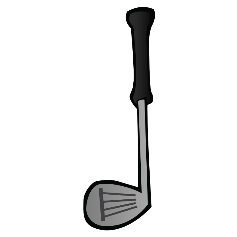 Putter clip golf. Collection of club