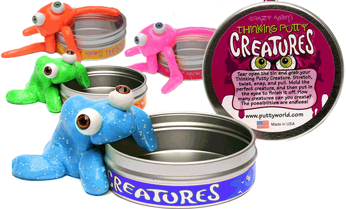 Crazy aaron creatures blue. Putty transparent toy clip royalty free