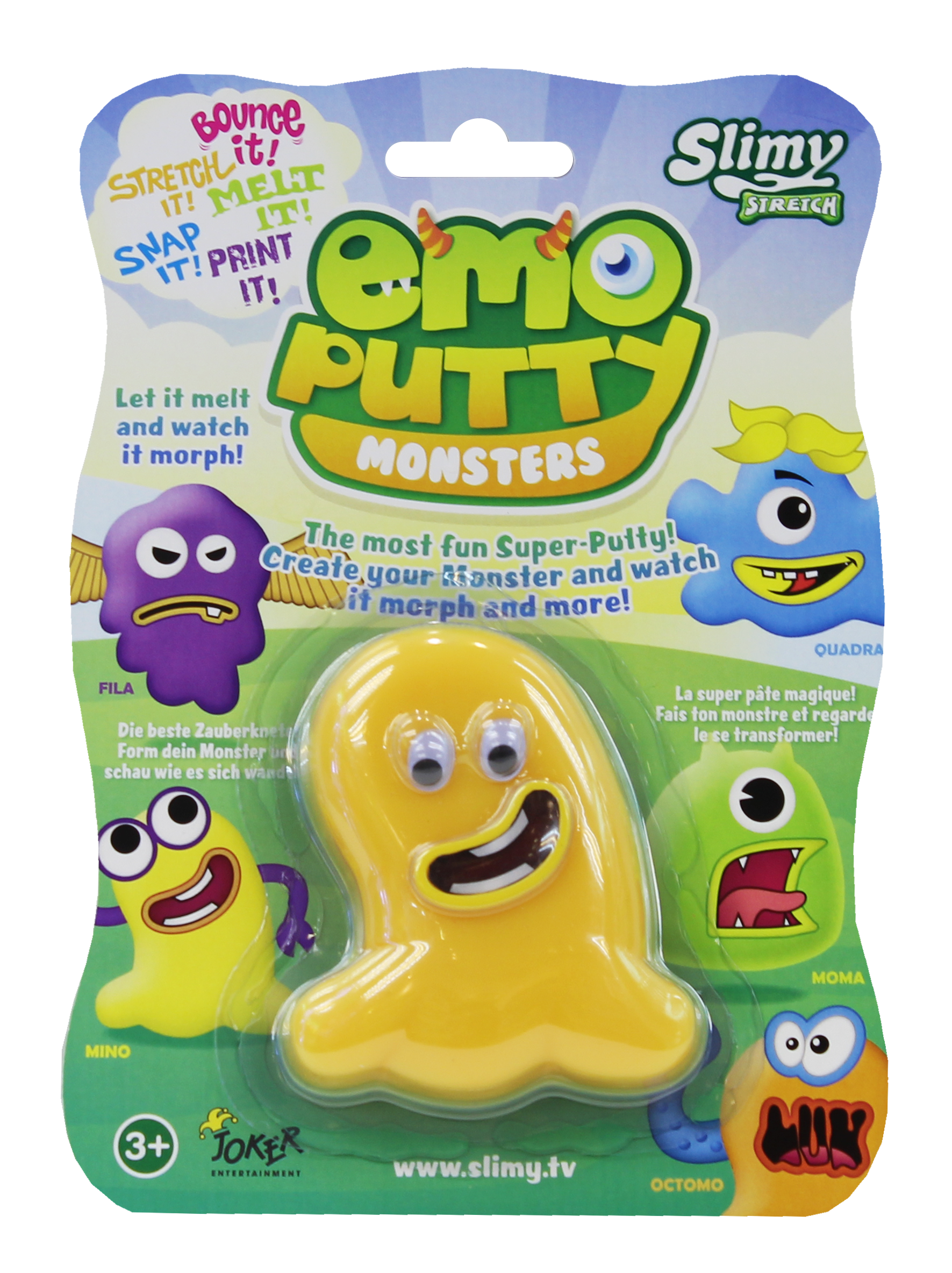 Putty transparent toy. Emo yalla toys middle