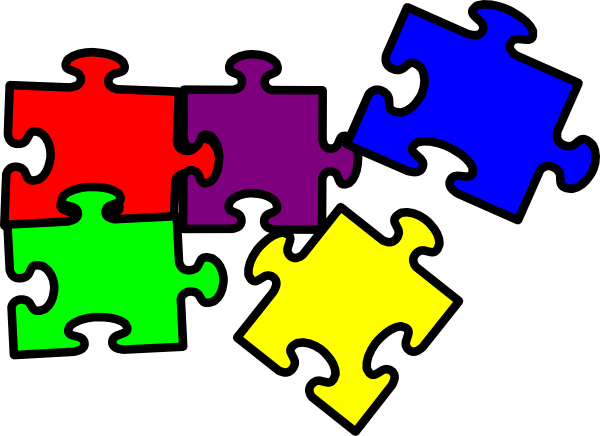 Puzzle clipart. Pieces clip art at