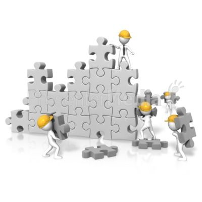 Puzzle clipart building. An image of a