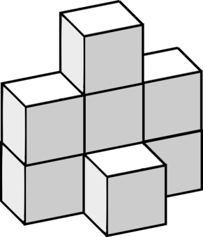 Puzzle clipart building. Cube black and white